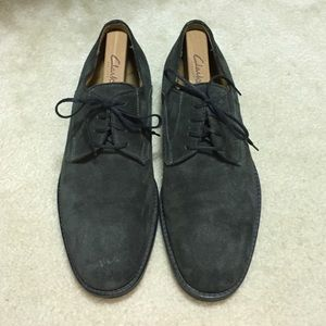 Men's Size 9.5 Gray Johnston & Murphy Dress Shoes